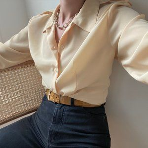 Vintage Sunny Blouse Button Up